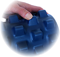 RumbleRoller foam roller with bumps